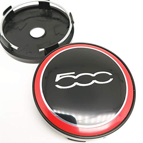 4 Uds 60mm Tapas de Cubo de Centro de Ruedas para Fiat 500 Punto Stilo Bravo Ducato Freemont Palio 500X 500L Cubierta de Llantas de Estilo de Coche