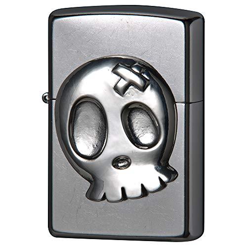 ZIPPO(ジッポー) ライター シルバー キュートスカル メタル メタル貼り 207SM-BSKL