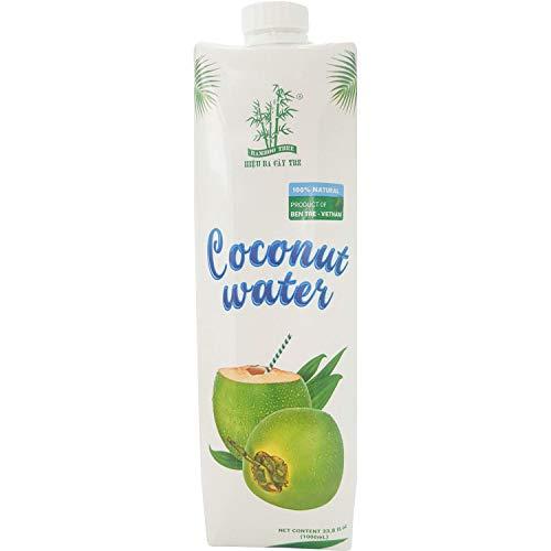 Bamboo Tree Kokonusswasser / 12er Pack von 1 Liter / Schönes gesundes Getränk, Kokosnuss, / Premium Qualität