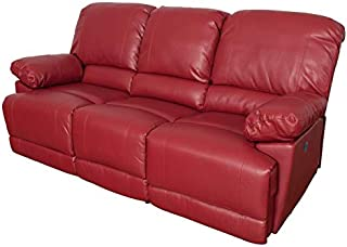 Amazon.com: Red - Leather / Sofas & Couches / Living Room Furniture ...