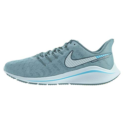 Nike Air Zoom Vomero 14 Sz 6 Mens Running Aviator Grey/Pure Platinum-Blue Fury Shoes