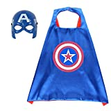 Fun Factorys Superhero Cape and Masks Superhero Captain America Toy for 3-10 Year Old Boys Superhero Dress up Masks Kid Best Gifts (Captain America sets)