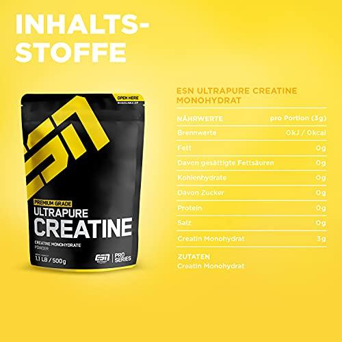 ESN Ultrapure Creatine Monohydrate, Pro Series, 1er Pack (1 x 500g Beutel) - 4