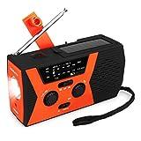 Retekess HR12W Portable Emergency Radio Solar Crank AM FM NOAA Dynamo with Reading