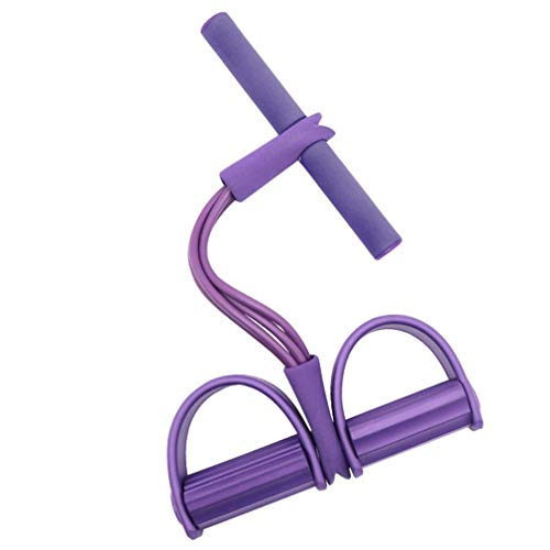 HehiFRlark - Cuerda de pedal multifunción, extractor de piernas, ejercitador de yoga, rallye para fitness, color morado