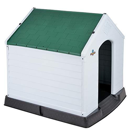 Confidence Pet Medium Waterproof Plastic Dog Kennel Outdoor House Green