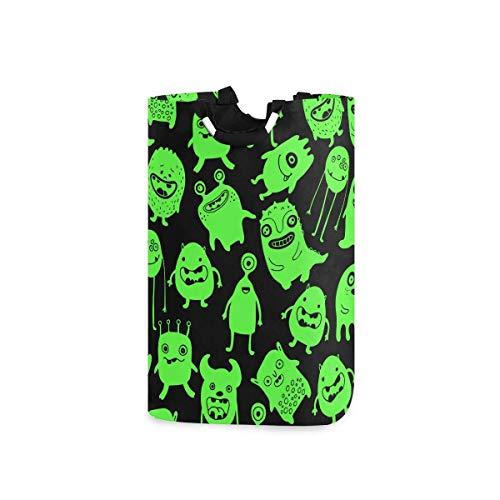 N\A Panier à Linge Monstres fluorescents Panier à Linge Pliable en Tissu bac de Lavage Sac à vêtements Pliant
