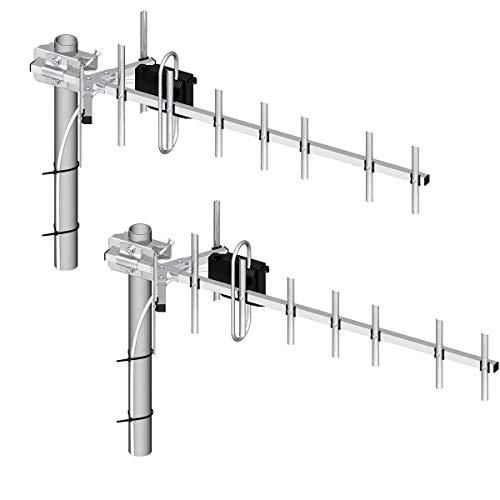 Antenne Set 2X Richtfunk LTE 800MHz mit je 13,5dB und 10m Kabel Doppel Masthalterung für Telekom Speedport LTE II Vodafone B1000 & B2000 EasyBox 904 Vodafone LTE-Modem LTE-Turbo