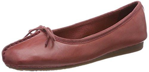 Clarks Damen Mokassin Ballerinas, Rot (Brick), 39 EU