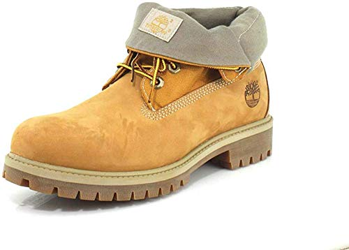 Timberland Herren Icon Collection Single Roll-Top Stiefelette, Wheat Nubuck, 40 EU