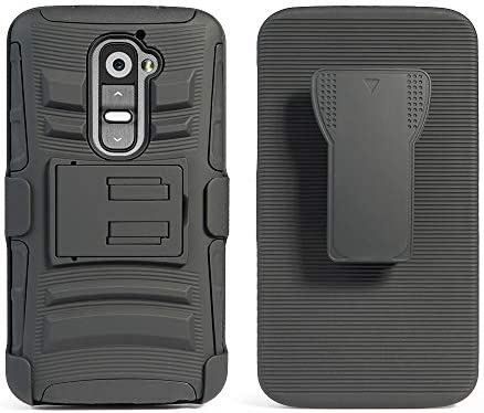 Cocomii Striped Belt Clip Holster Compatible with LG G2 VS980 LS980 Case Slim Thin Matte Kickstand product image