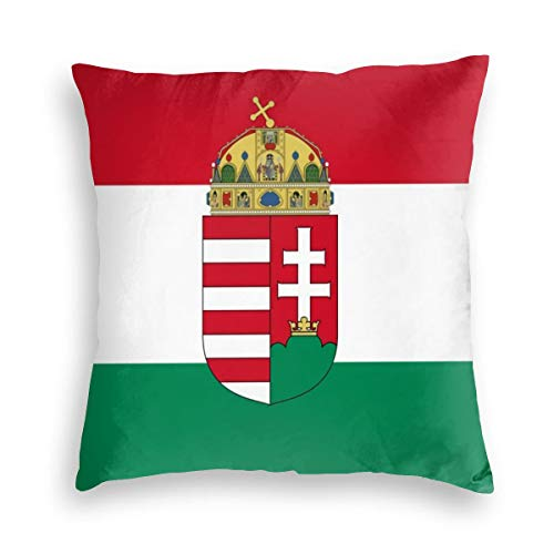 Flag Of Hungary Velvet Soft Decorative Square Throw Pillow Covers Cushion Case Pillowcases for Sofa Chair Bedroom Car 18X18inch