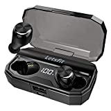 Wireless Earbuds, Letsfit Bluetooth 5.0 Headphones Up to 80H Playtime with Wireless Charging Case,...