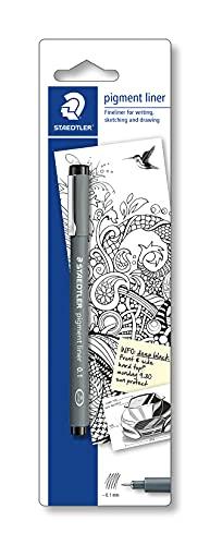 Staedtler 30801-9BKD Penna a pigmentazione a punta sottile, 0.2 mm, Nero