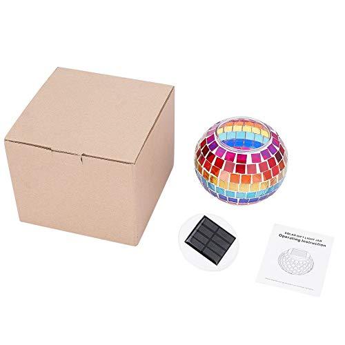 Bubbry Tafellamp met kleurverandering van de glazen bollen, op zonne-energie, led-buitenverlichting, waterdicht
