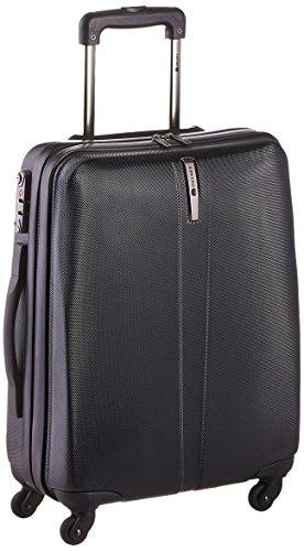 4 ruote valigia trolley da cabina estensibile nera, marchio francese Delsey collezione Schedule