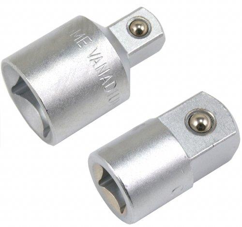 """Adapter-Satz, 2-tlg. 19 mm (3/4"""") und 12.5 mm (1/2"""") Antrieb (VERBINDUNGSSTÜCK/ÜBERGANGSTEIL/Reduzierstück/Vergrößerungsstück), 2-tlg. für Ratschen, Steckschlüsseln, Gleitgriffe und Knebel"""