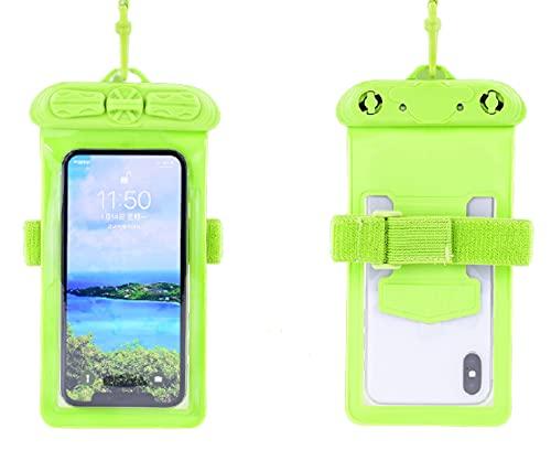 N\C Bolsa a Prueba de Agua para teléfonos móviles, Colgante/Brazo Atado, Bolsa Seca a Prueba de Agua para teléfonos móviles como iPhone/Huawei/Samsung/Xiaomi, hasta 7,2 Pulgadas 特大号7.2寸 Darkgreen