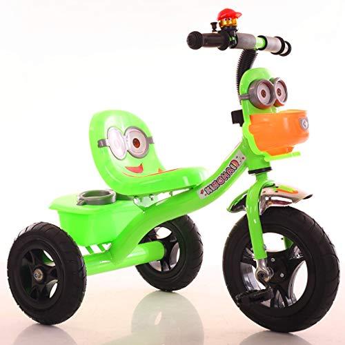 Cochecito Ultra Ligero luz música Silla de Paseo con los niños de Tres Ruedas de una Bicicleta de los niños 1-3-6 años de Edad, Regalos del bebé 4 Colores (Color : Green)