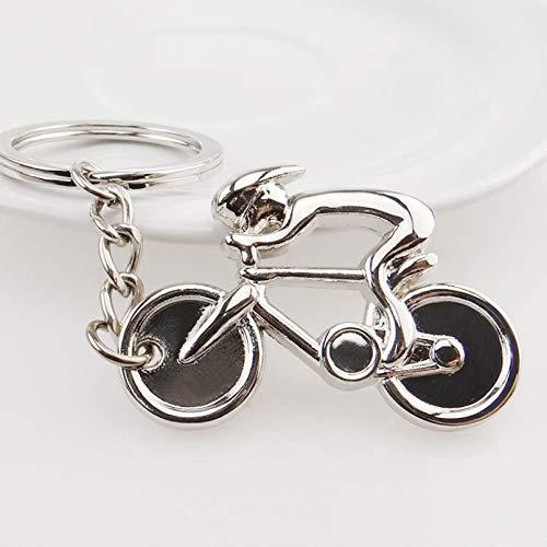 GSGJWJ Schlüsselring Schlüsselbund Fahrrad Modell Schlüssel Kette Kühlen Luxus Metall Keychain Bike Drop Ring Schlüsselring Für Neue Geschenk