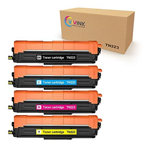 VIVINK LC223 - Cartuchos de tinta para Brother LC223 LC221 (negro, cian, magenta y amarillo) para Brother MFC J4420DW J880DW J5320DW J4620DW J480DW J4625DW J5625DW J680DW DCP J4120DW J562DW (10)