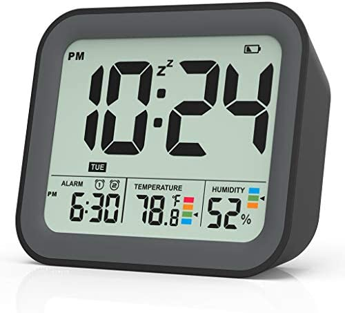 Digital Alarm Clock for Bedroom Dual Alarm Clock with Workdays Weekends Setting Battery Operated product image