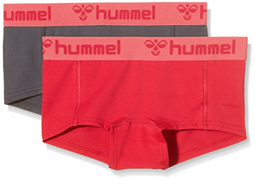 Hummel Damen Shorts Hers 2-Pack Mini Hotpants, vitual pink/dark slate, S