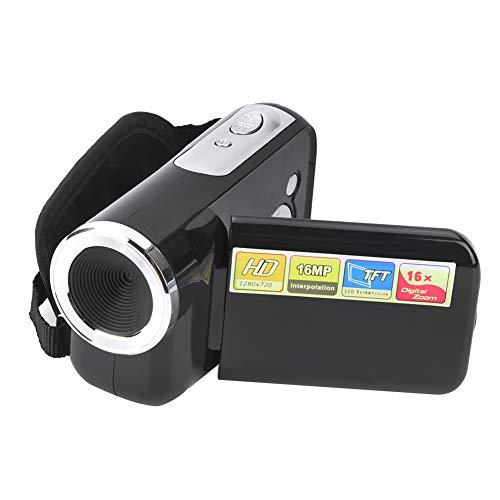 Kamera Camcorder, DV für für Kinder/Anfänger/ältere 16X HD Digital Video Kamera Geschenk für Jungen Mädchen mit 2 Zoll TFT LCD Bildschirm Unterstützung 32GB Speicherkarte(schwarz)(schwarz)