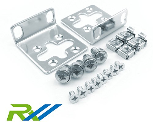 """RW RoutersWholesale 17.3"""" Wide Mounting Kit Compatible/Replacement for HP ProCurve/Aruba/OfficeConnect/HPE HP-4S (5064-2085) (5069-6535)"""