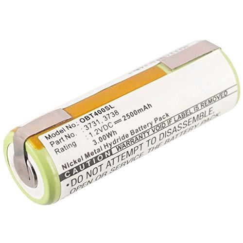 subtel® Batteria Premium Compatibile con Oral-B Professional Care 8000/9500 / Triumph 4000 / Triumph 9900, 3738 2500mAh accu Ricambio Sostituzione