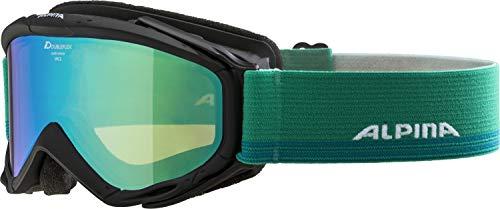 ALPINA SPICE Skibrille, Unisex– Erwachsene, black, one size