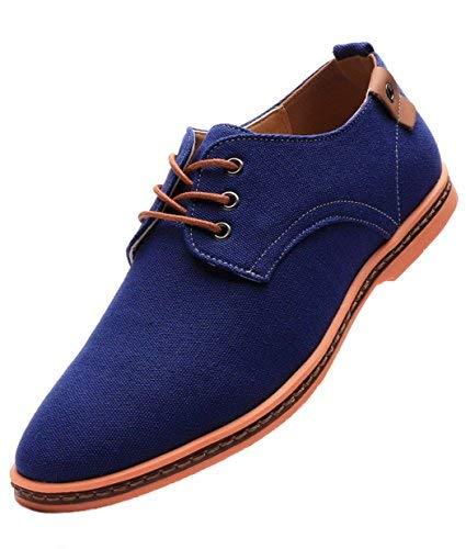 Dadawen, zapatos Oxford de tela para hombre, estilo casual