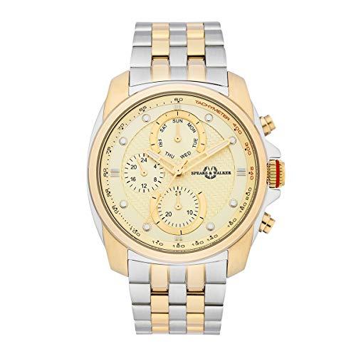 Spears & Walker Reloj para Hombre Análoga Japón de Cuarzo con Cerrea de Acero Fino 10070125