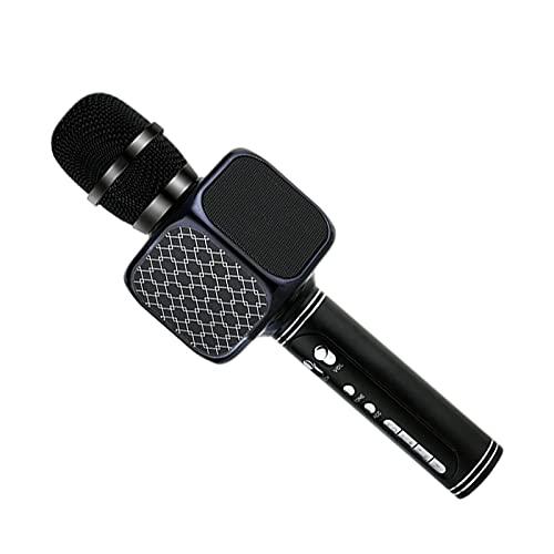 sharprepublic Micrófono inalámbrico de Bluetooth del micrófono profesional del Karaoke del PDA portátil, fácil de operar - Negro