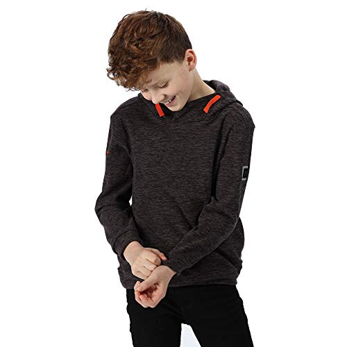Regatta Kid's 'Keyon' Broken Stripe Hooded Fleece XX-Small asche