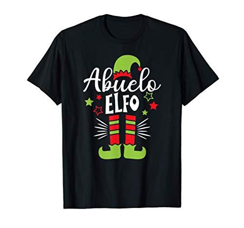 Abuelo elfo Pijama de Navidad, Xmas Familia Elf Pajama Camiseta
