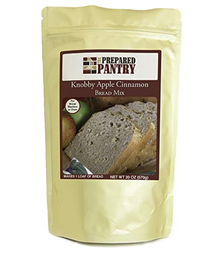 The Prepared Pantry Knobby Apple Cinnamon Gourmet Bread Mix; Single Pack; For Bread Machine or Oven
