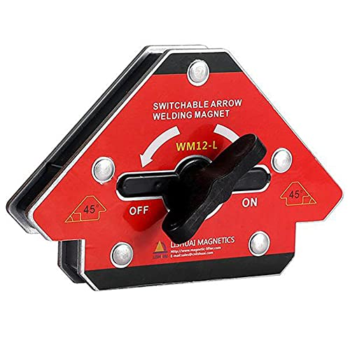 Esquina de soldadura magnética Posicionador de ángulo conmutable Localizador de desmagnetización de una tecla L soldador de gas