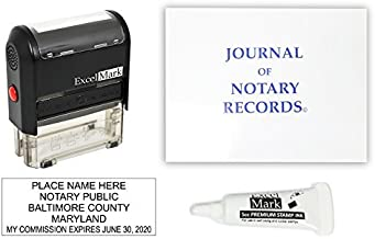 ExcelMark Self Inking Notary Stamp Kit - Maryland