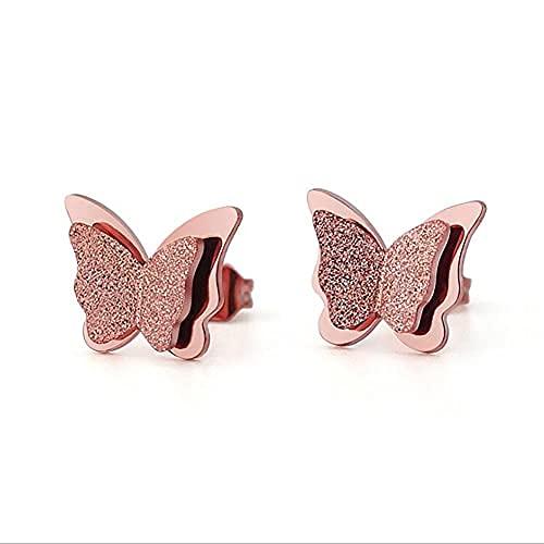 Pendientes de fiesta de animales de mariposa de acero inoxidable de moda para mujeres niñas be17030
