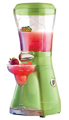 Nostalgia Taco Tuesday 64-Oz. Frozen Margarita & Slush Blender With Easy-Flow Spout for Margaritas, Daiquiris, Slushies & Frozen Blended Drinks, Green