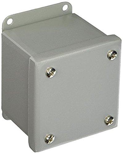 "Wiegmann PB1BC Blank Cover for PB-Series NEMA 12 Enclosure, 30.5 mm Pushbuttons, Steel, 4"" x 3"" x 3"""