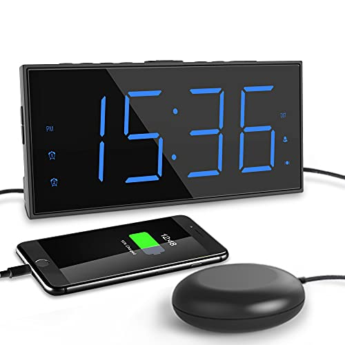 ROCAM Extra Loud Alarm Clock for Heavy Sleeper, Strong...