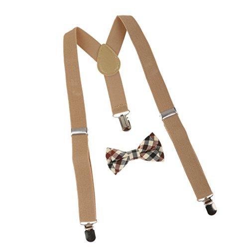 Sharplace Juego de Cuadros Corbata Ajustable Tirantes Traseros para Chicos Niños