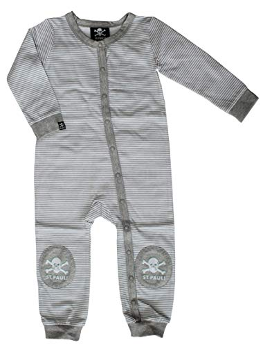 St. Pauli SP 041880 Baby Strampler Anzug Geringelt Farbe weiß/grau (62)