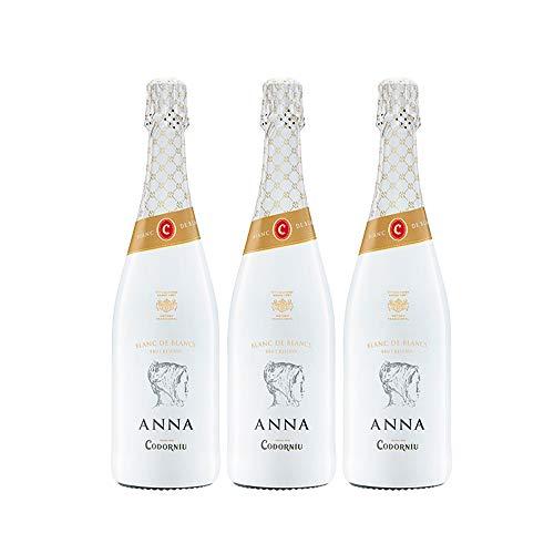 Codorníu | Cava Anna de Codorníu Blanc de Blancs Reserva | Caja de 3 botellas de 75 cl