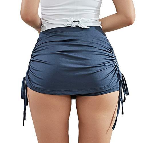 Pantalones Cortos De Gimnasia De Entrenamiento para Mujer con Pliegues, Pantalones De Yoga para Mujer Pantalones Ligeros De Levantamiento De Glúteos Lencería Sexy para CorrerM