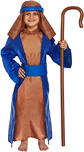 Costume de déguisement les âges de Noël de berger enfants 7-9 ans
