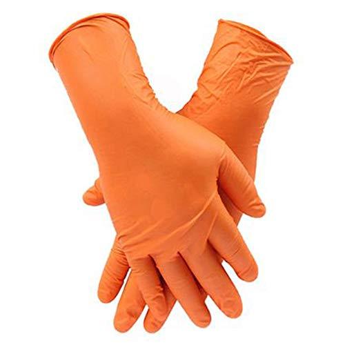 X/i/a Handschuhe Orange Medical Nitril, Thick Puderfrei, Weich Und Bequem Fit Anti-Allergie-Einweghandschuhe, for Das Krankenhaus/Klinik/Food Processing, 100 Stück/Karton