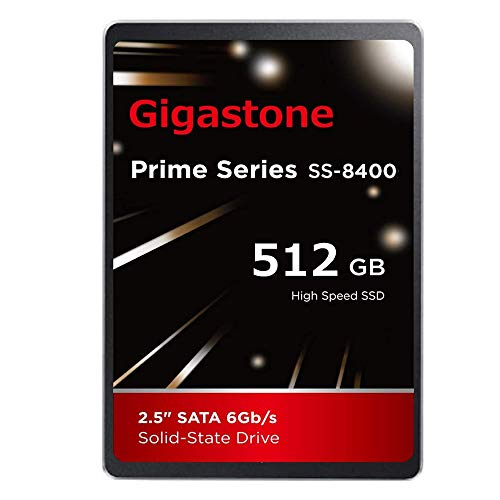 Gigastone 512GB 2.5' SSD Interno 3D NAND Unidad de Estado sólido, SATA III 6 GB/s 2,5 Pulgadas 7 mm (0,28'), Lectura de hasta 550 MB/s